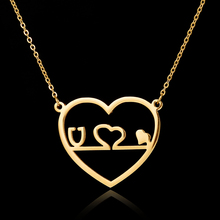 2017 New Medical Jewelry Silver Gold Heart Stethoscope Pendant Gothic Chokers Stainless Steel Chain Necklace for Women Nurse