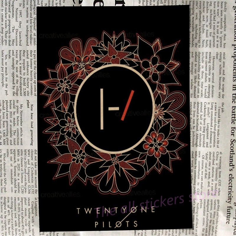 Twenty One Pilots poster. Vintage Retro rock band music Guitar Matte Antique kraft paper Poster Wall Sticker/6013