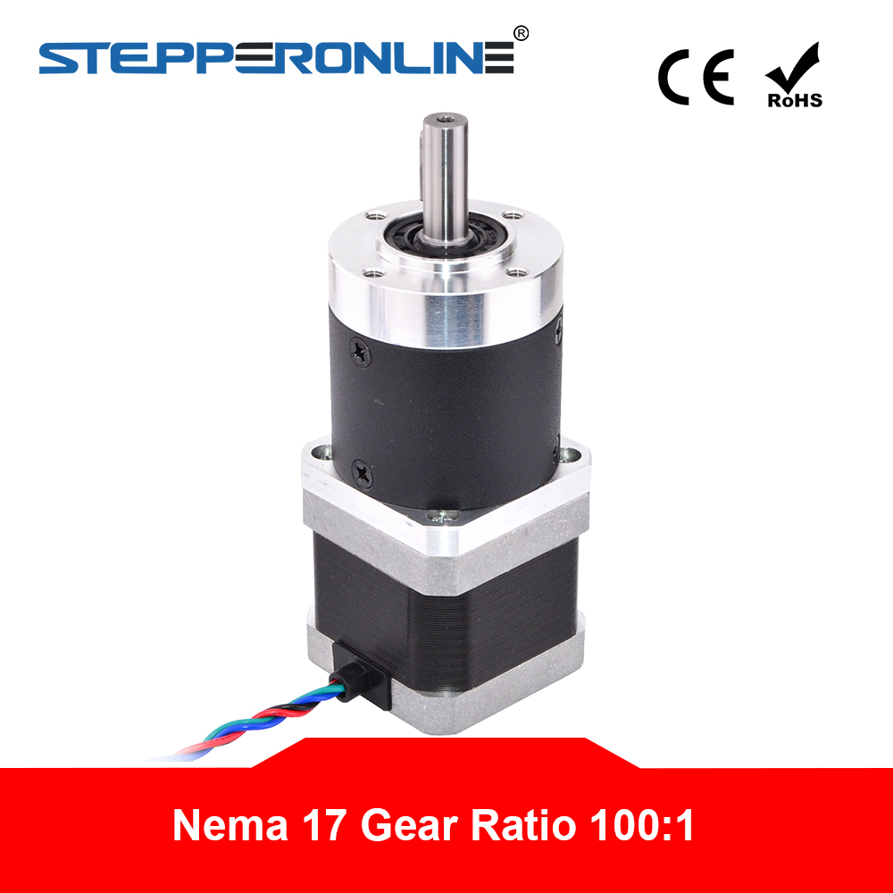 100:1 High Precision Planetary Gearbox Reducer Nema 17 Gear Stepper Motor L=39mm 1.68A for CNC 3D Printer-in Stepper Motor from Home Improvement    1