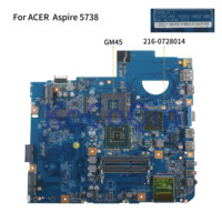 KoCoQin Laptop motherboard For ACER Aspire 5738 5738G DDR3 Mainboard MBP5601019 MB.P5601.019 09912 1 48.4CG08.011 GM45