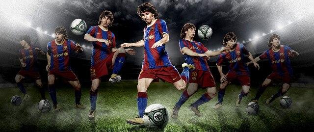 P0762 Lionel Messi Football Du Fc Barcelone Plus Papier Peint
