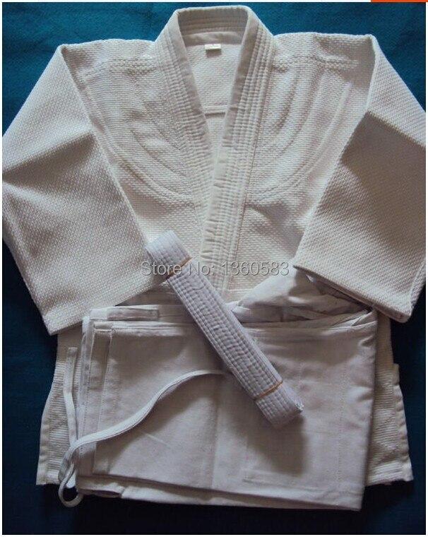 Белый международный стандарт Дзюдо джиу-джитсу утолщенной одежда хлопок Slub ткань Дзюдо взрослый ребенок обслуживание айкидо одежда