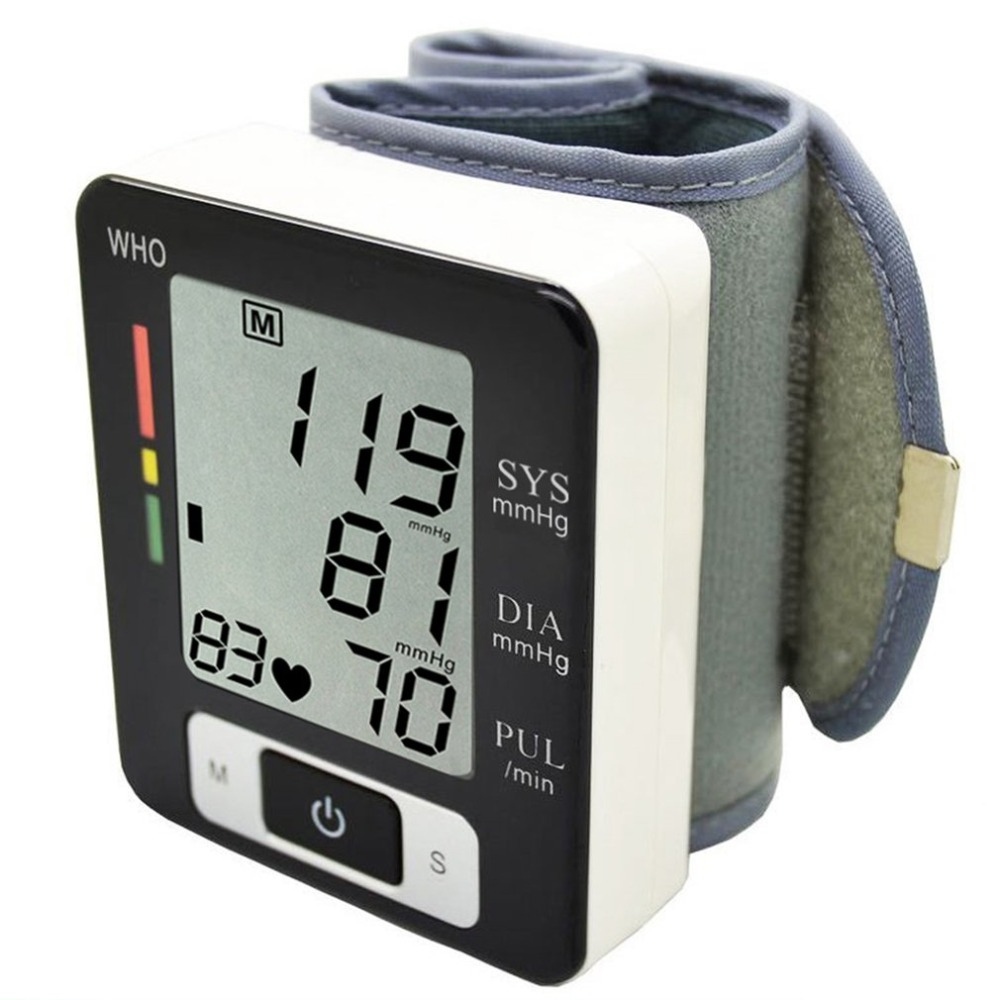 Health Care Automatic Digital LCD Wrist Band Blood-pressure Meter Heart Rate Monitor Sphygmomanometer Oscillometric MethodHealth Care Automatic Digital LCD Wrist Band Blood-pressure Meter Heart Rate Monitor Sphygmomanometer Oscillometric Method