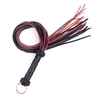 Adult Games Sex Whip Sexy Flogger Toy Hand Made Genuine Leather Whip Sex Fetish Leather Flogger