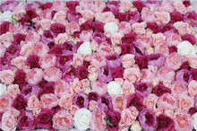 SPR Free Shipping-10pcs/lot wholesale good quality personized artificial peony rose flower wall for stage background decoration