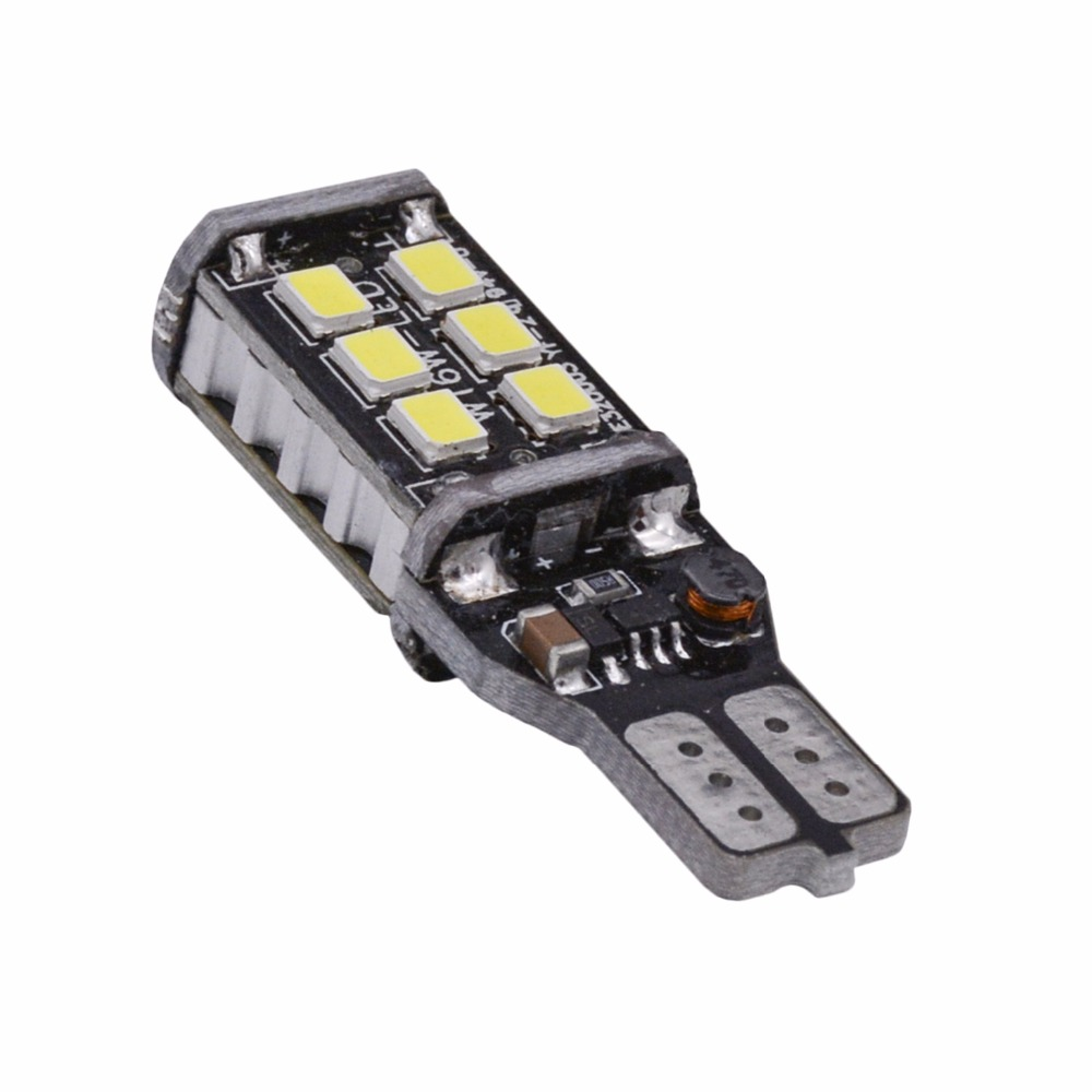 1pcs 800 Lumens Super Bright T15 W16W Canbus Error Free 921 915 LED 15SMD 2835 Backup Reverse Tail Brake Lights Parking LED Blub 2 x error free super bright white led bulbs for backup reverse light 921 912 t15 w16w for peugeot 408