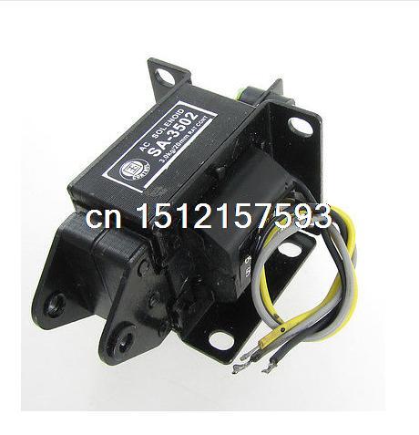 цена на SA-3502 AC 220V 3kg Force 20mm Stroke Pull Type Solenoid Electromagnet