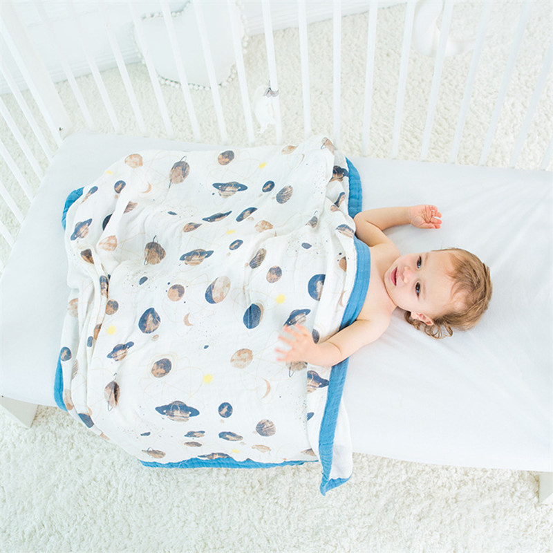 hot sales four layer bamboo baby muslin blanket Muslin Tree swaddle better than Aden Anais Baby/bamboo Blanket Infant Wrap removable liner baby infant swaddle blanket 100