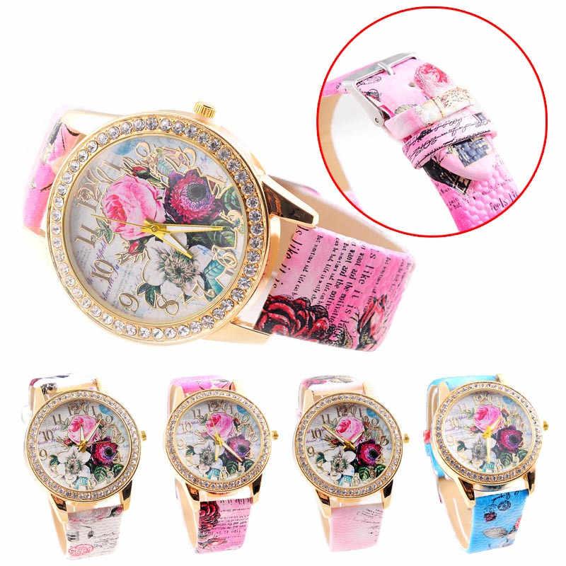 Nieuwe Vrouwen Luxe Lederen Genève Neutrale Horloges Man Horloge Goedkope Lady Meisjes Horloges Gift Uur Genève Relojes Mujer Klok