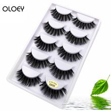 5 pairs Real Mink Fake eyelashes 3D Natural False Eyelashes Lashes Soft Eyelash Extension Makeup Kit Cilios G800 801 802
