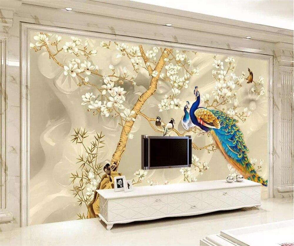 Bande Papier Peint Salon ▽beibehang personnalisé papier peint 3d photo murale fait