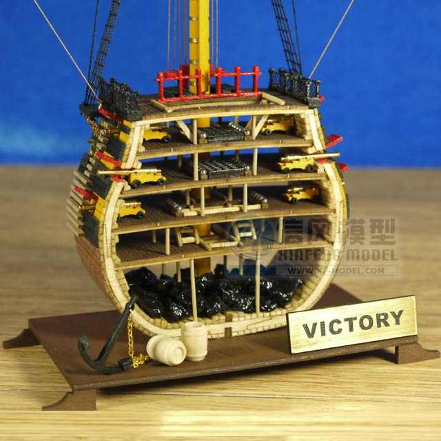 Scale 1/200 British classic ancient mini section ship model 1778 HMS Victory warship wooden model Offer English instruction