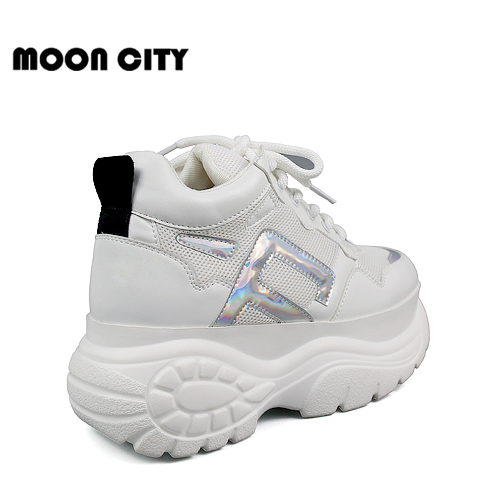Image 5 - Womens Sneakers 2019 new fashion thick high platform women's sports shoes chunky casual tennis shoes ladies brand mesh shoes-in Women's Vulcanize Shoes from Shoes