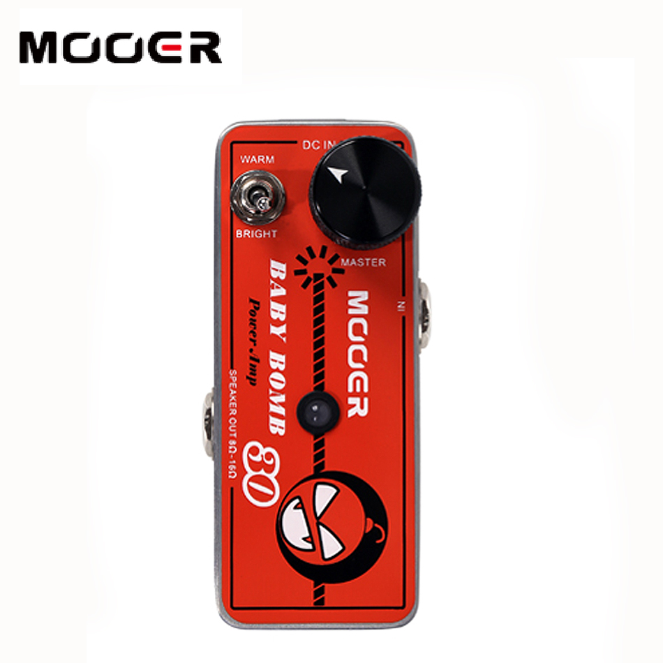 MOOER Baby Bomb Guitar effect pedal Can provide smooth post stage overdrive mooer baby bomb guitar effect pedal master volume provide warm true tube like 30w digital micro power amp bm30