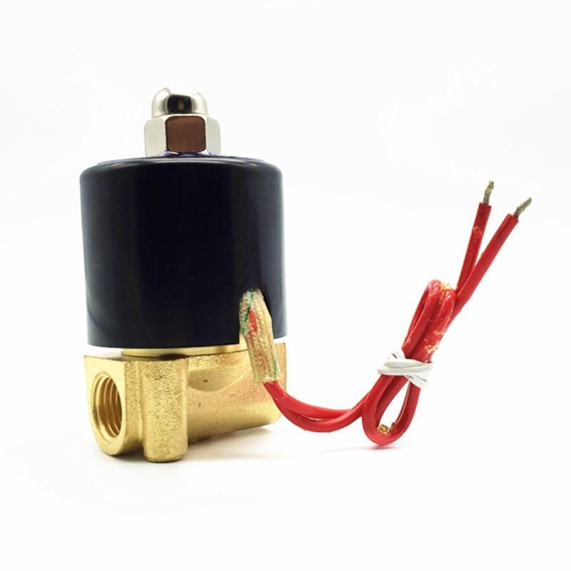 Livraison Gratuite 1/4 Électrovanne Normalement fermé vanne D'eau Air gas Oil 2W025-08 24 v 220 v