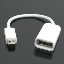 10cm Micro USB OTG Cable Adapter Black White For Android Sony Samsung HTC LG Tablet PC /MP3/MP4 Smartphone Drop Shipping