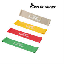 Set van 4 latex resistance bands workout oefening pilates yoga bands loop pols enkel elastische riem(China)