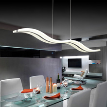 Современный волновой дизайн, белый акриловый светодиодный светильник, люстра, подвесной светильник L95* H150cm, светодиодный светильник