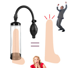 Penis Pump Extender with Silicone Sleeve Vacuum Erection Pump for Male Penis Enlargement Training Easy to Operate Adult Sex Toys