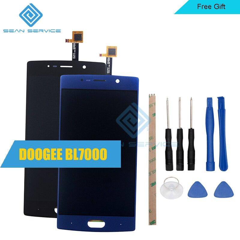 5.5 pulgadas para doogee bl7000 pantalla LCD y pantalla táctil digitizer Asamblea 1920x1080 Herramientas + adhesivo en la acción