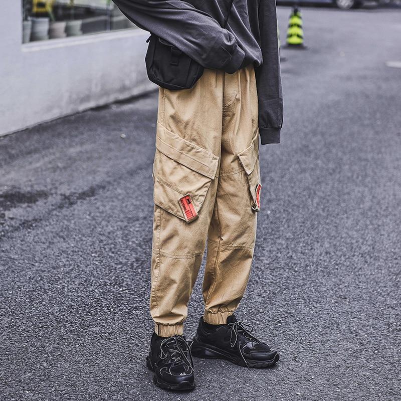 Jogger Sweatpants Trousers Harem Elastic-Waist Streetwear Male Fashion Hip-Hop Men