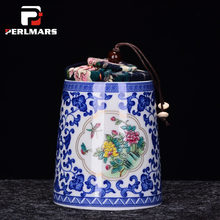 Jingdezhen Blue and White Porcelain Ceramic Tea Caddies Kung Fu Tea Set Tea Jar Sugar Pepper Seasoning Nuts Sealed Storage Cans(China)