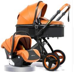Belecoo Роскошная детская коляска 2 в 1 каретки Высокая Пейзаж коляска люкс для лежа и сидения на 2018