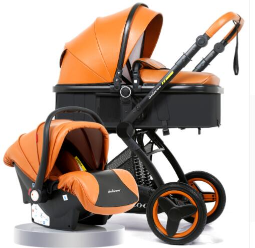 Belecoo Luxury Baby Stroller 2 in 1 Carriage High Landscape Pram Suite for Lying and Seating
