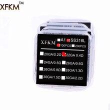 Original XFKM 100pcs RDA coil E cigarette rda atomizer wick premade coil ss316l Pre Coiled resistance heating wire