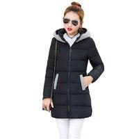 2017 Ukraine Winter Hooded Women Down Cotton Jacket Parkas Large size Fashion Thicker Woman Long Coat doudoune femme hive Z217