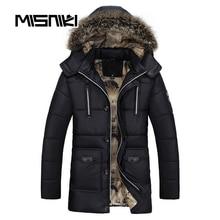 MISNIKI 2017 Hot Fashion Hooded Mens Winter Jackets Parka Casual Warm Winter Coat Men