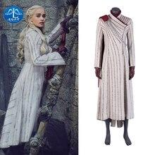 купить Game of Thrones  Costume Cosplay Daenerys Targaryen Dress Carnival Halloween Dragon Mother Outer Coat  Sets  Women по цене 1486.63 рублей