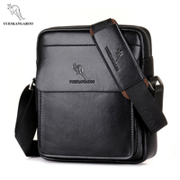 YUES KANGAROO Brand High Quality Casual Men Bag Vertical Business Leather Shoulder Bag Fashion Man Crossbody