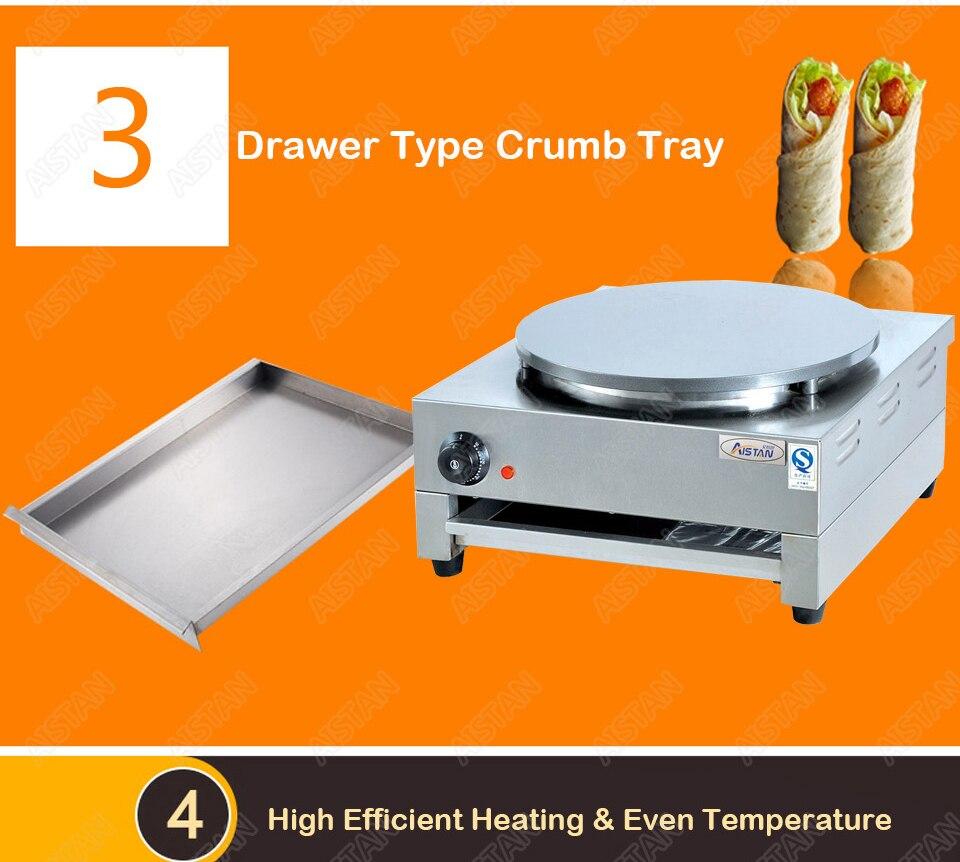 DE1/DE2 electric crepe maker cooker griddle machine for snack maker equipment 7