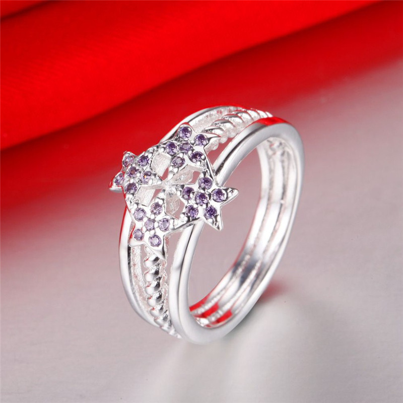 Wedding Rings with Crystal Silver 925 Ring for Women Promise Engagement Ring Fashion Brand Jewelry Accessories Anelli Donna