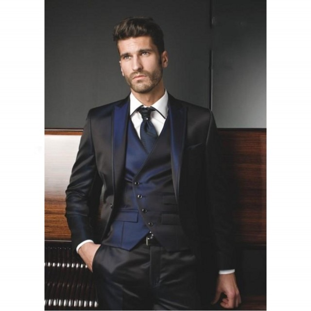 Aliexpress.com : Buy Free shipping Black Modern Grooms Tuxedos Men
