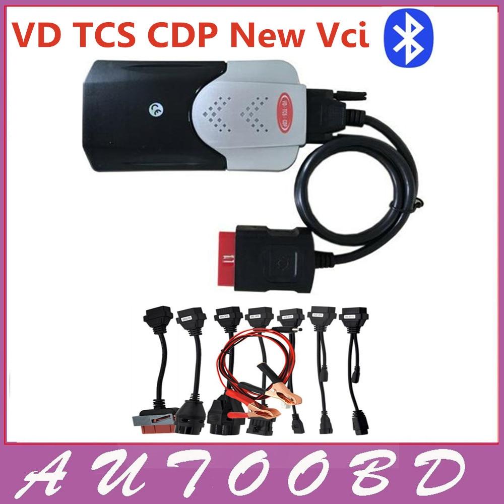 2015.Р3/2014.R3 с кейген активировать новый VCI с Bluetooth ВД ТКС CDP Pro плюс с 8 шт/комплект кабелей для автомобиля кабели для автомобили Грузовики