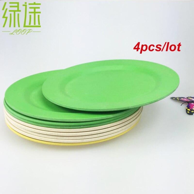 4 PZ Ambientale Cina colorato set di cena cucina vassoio di cibo ...