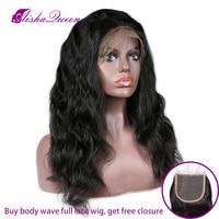Glueless полный кружево человеческие волосы Искусственные парики для черный для женщин перуанские прямые волосы 130% волнистые человеческие вол