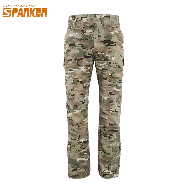 EXCELLENT ELITE SPANKER Men Combat Assault Camouflage Pants Outdoor Army Military Trousers Hunting Cargo Pants Tactical Joggers