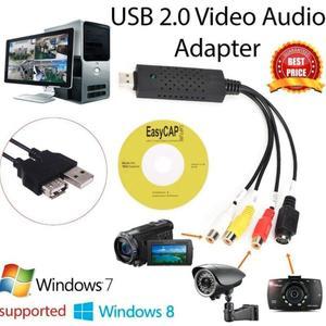 Easycap-adaptateur de Capture vidéo USB 2.0 | Easy Cap, DVD TV VHS DVR, carte de Capture vidéo vhs, Support de dispositif, pour MAC IOS gratuit