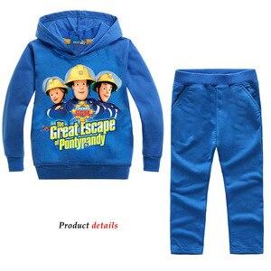 Image 5 - Z & y 2 8years roupas do menino da criança bombeiro sam jogging terno à moda criança roupas adolescentes crianças agasalho traje de ano novo para o menino