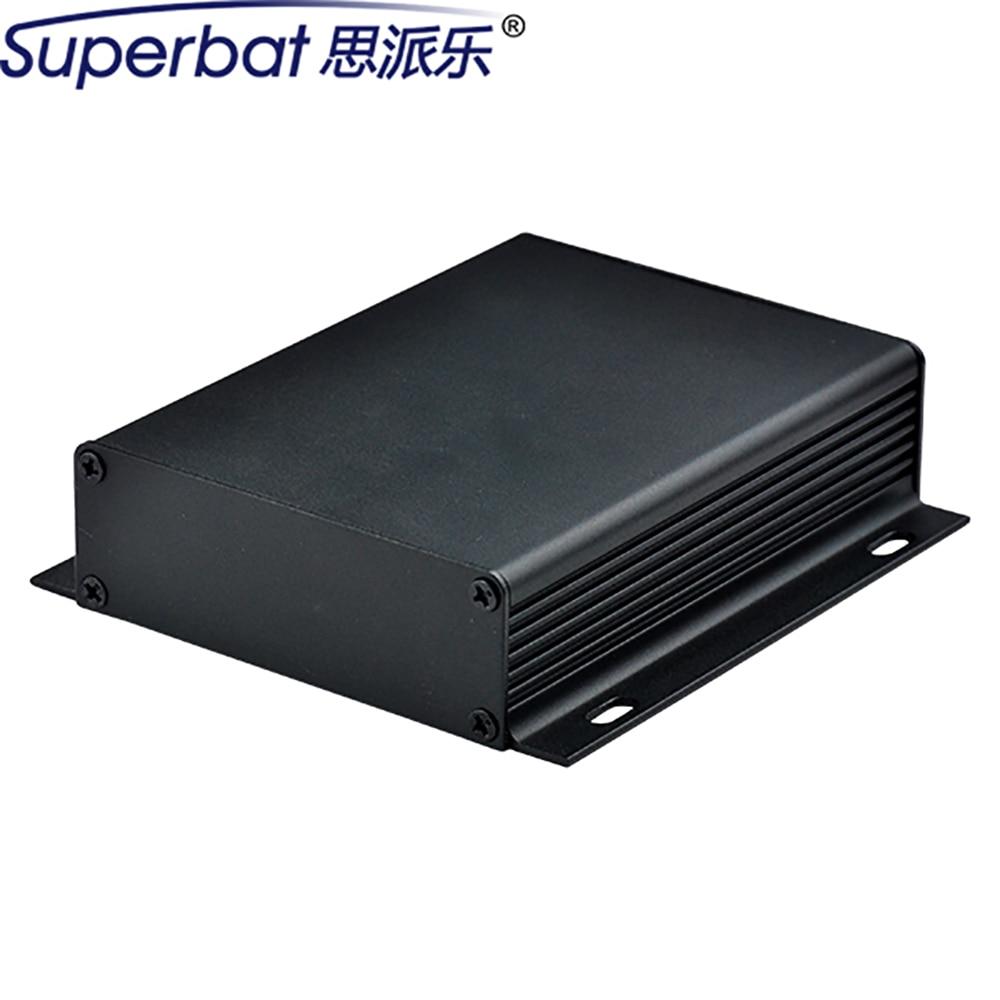 Superbat Aluminum Alloy Power Amplifier Insturment 104*28*110mm Enclosure Black HIFI Electronic Valve PCB Case 4.09