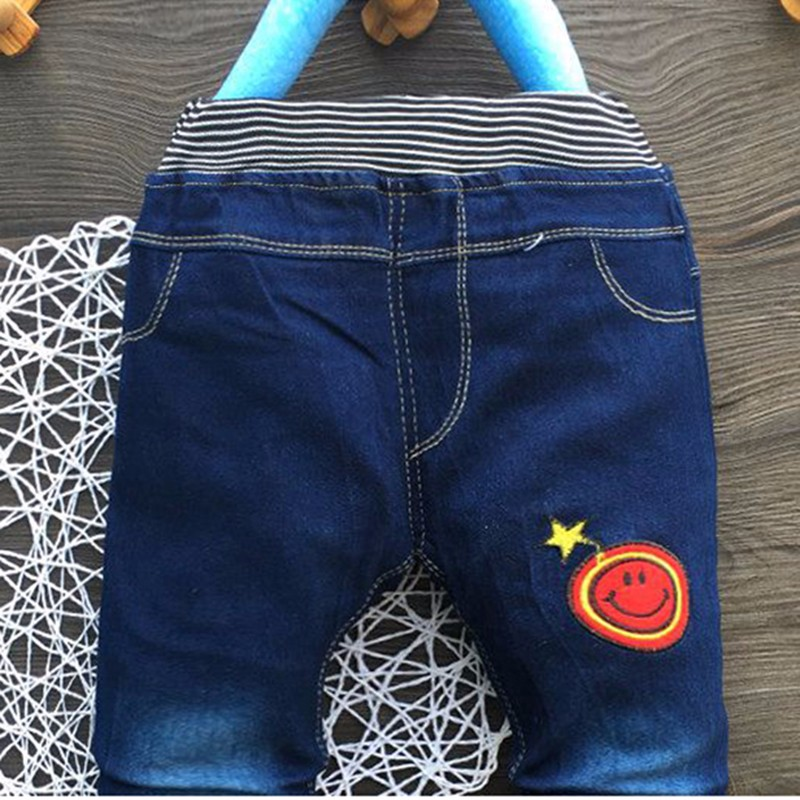2016 New Spring Autumn Unisex Trousers Fashion Elastic Waist Kids Pants Casual Straight Jeans Children Clothing Free Shipping (1)