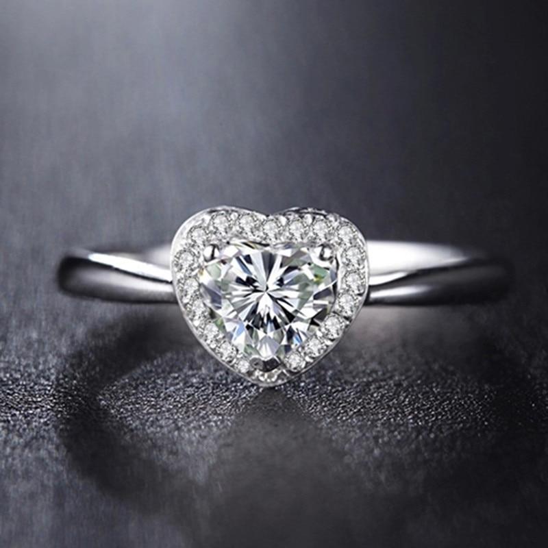 Online Get Cheap Heart Shaped Diamond Engagement Ring Aliexpress Com Alibaba Group