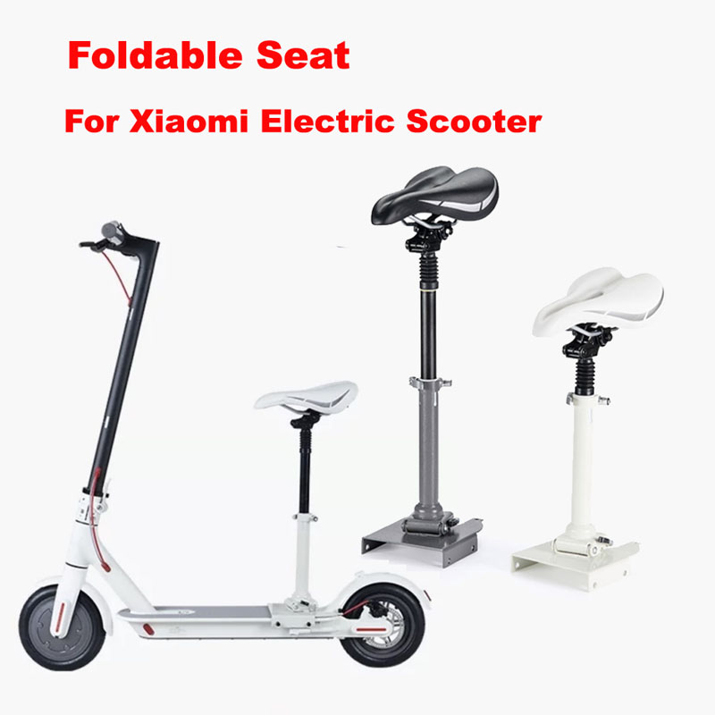Xiaomi Electric Scooter Saddle Foldable Shock Absorbing Seat Cushion Comfortable Damping Chair for Xiaomi Electric Scooter M365 10inch folding damping electric scooter seat parts m365 saddle shock absorbing seat comfortable