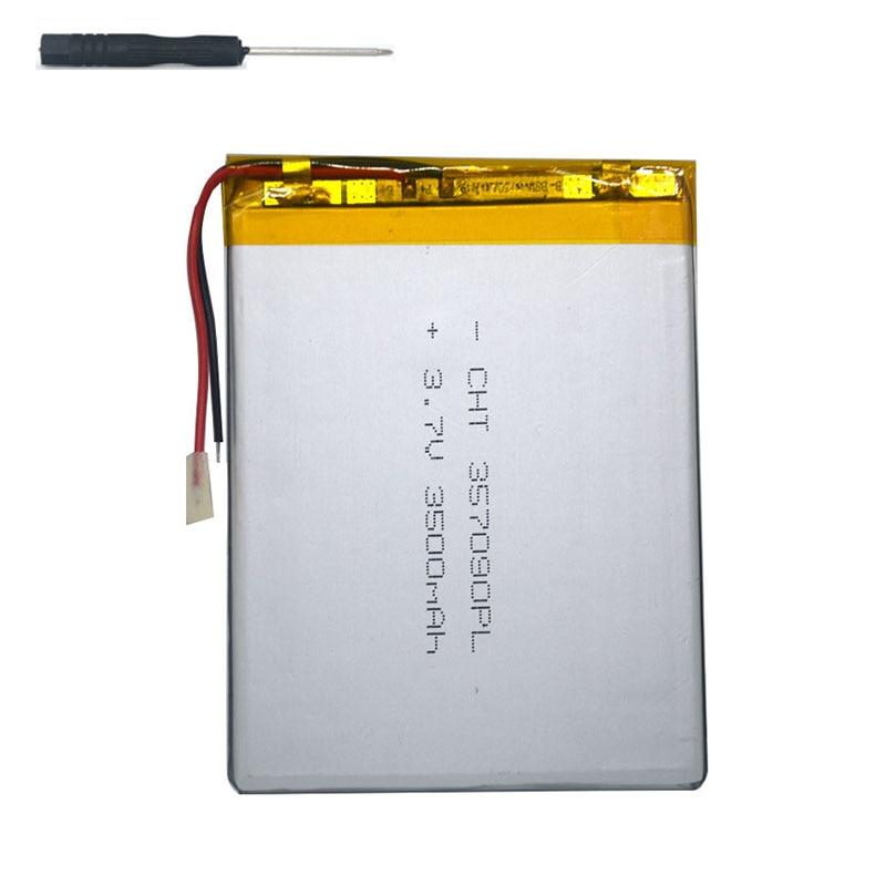 7 tablet universal battery pack 3 7v 3500mAh polymer lithium Battery for DEXP Ursus NS370 tool