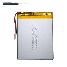"""7 """"tablet universal de la batería 3.7 v 3500 mAh Batería de polímero de litio para DEXP Ursus NS370 + accesorios para herramientas destornillador"""