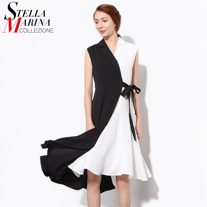 Buy Cheap 2016 Summer Women Sexy Dress V Neck Sleeveless Belt Patchwork Chiffon Elegant Evening Party Night Club Dresses Robe Femme 1484