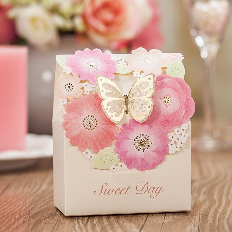 Beautiful Wedding Gifts: 25pcs Beautiful Butterfly Wedding Favor Box Candy Box Gift